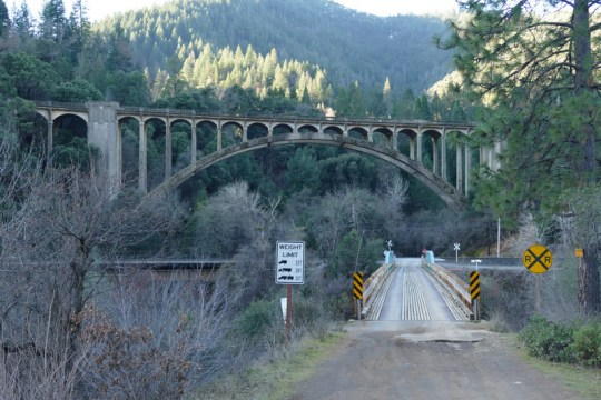 Fender Ferry Bridge with I-5 Puppy Creek Bridge in background