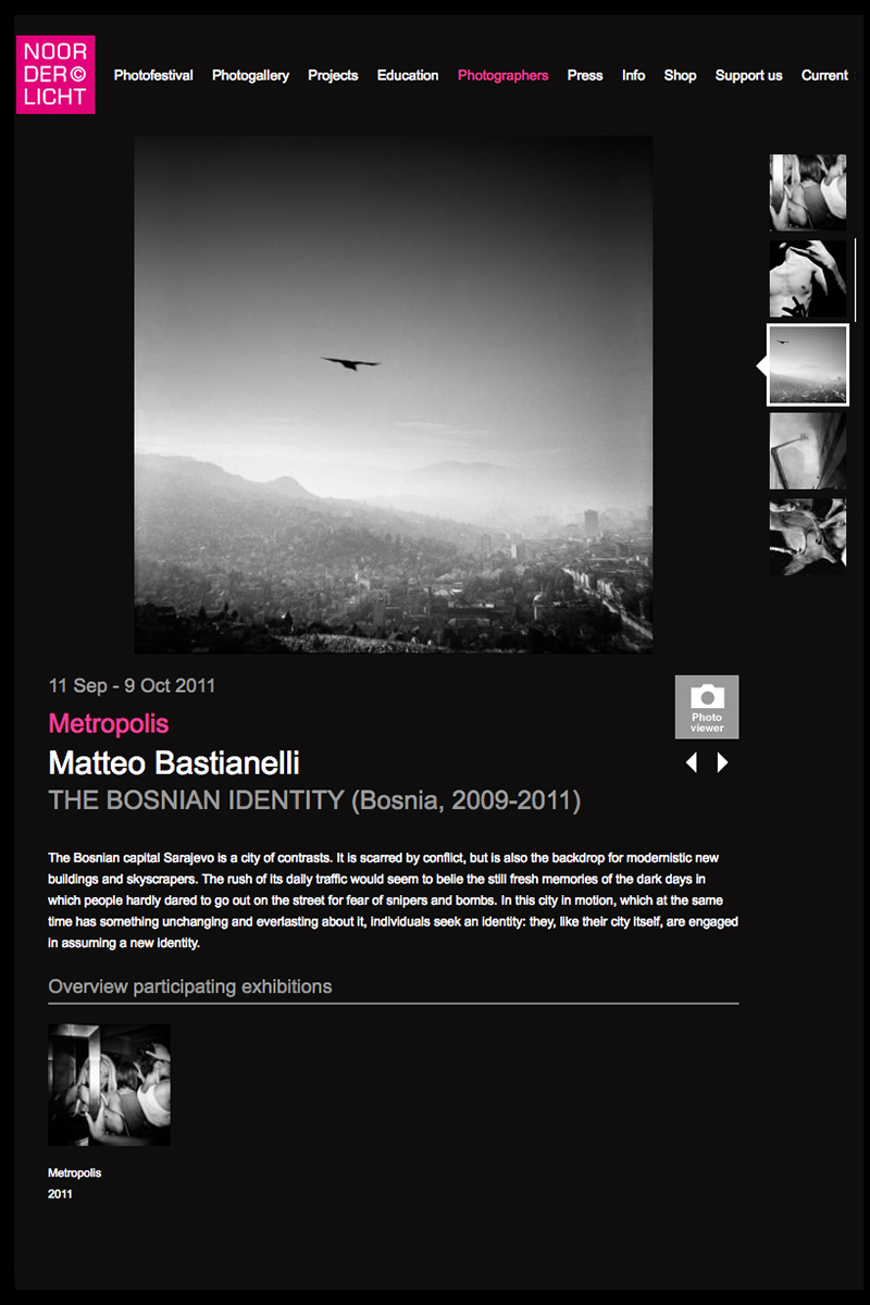 "September 2011 - ""The Bosnian Identity"" published in Noorderlicht photofestival book."