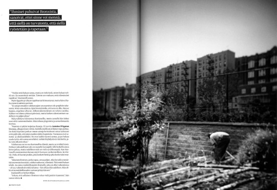 "December 2011 - ""Back and forth"" published in Photo Raw magazine."