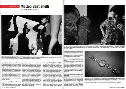 "January 2012 - ""The Bosnian Identity"" published in Progresso Fotografico."
