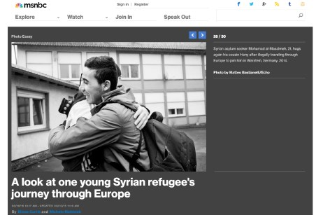 """March 2015 - """"Souls of Syrians"""" published in MSNBC photography."""