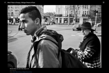 """October 2016 - """"Souls of Syrians"""" published in Lens-The New York Times."""