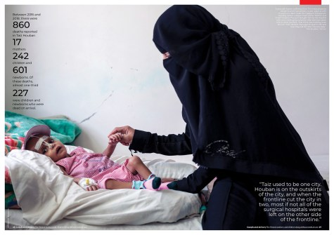 """April 2019 - January 2019 - Some of my photographs realized on assignment for Doctors Without Borders/Médecins Sans Frontières in Yemen, published in their latest report """"Complicated delivery: The Yemeni mothers and children dying without medical care""""."""