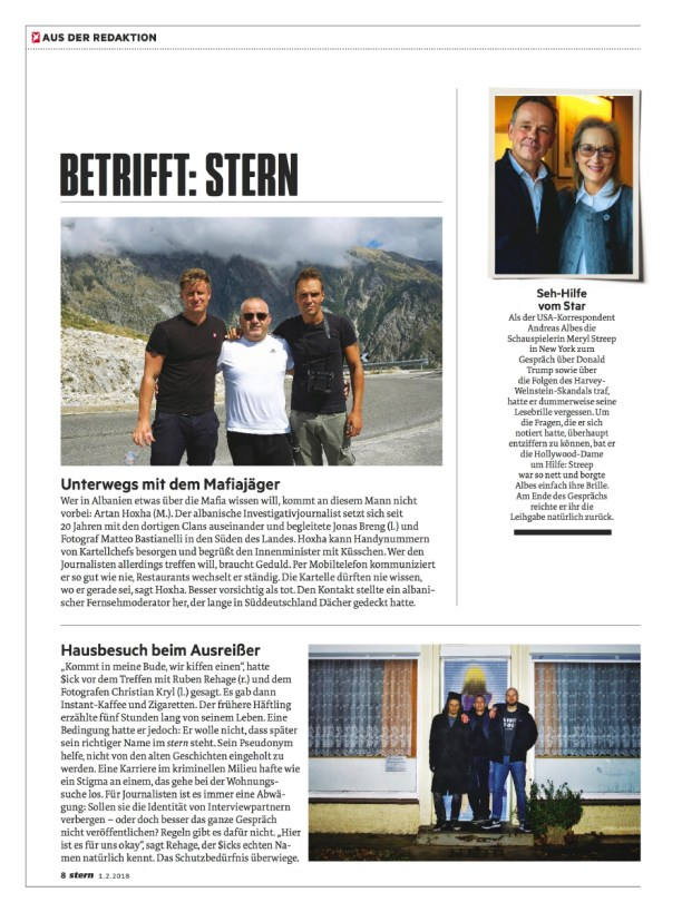 "February 2018 - My assignment realized in Albania, part of the long-term project ""Green Gold"", published as cover story in Stern magazine, with a text written by Jonas Breng."
