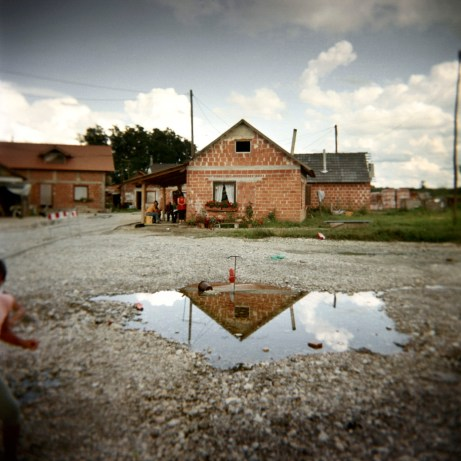 One of the brick houses built with EU funding. Trnovec Bartolovečki (Varazdin), Croatia 2009. © Matteo Bastianelli