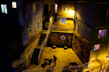 Some children play on a courtyard in the favela of Rocinha. Rio de Janeiro, Brazil 2015. © Matteo Bastianelli