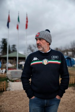 "Sergio Pirozzi, mayor of Amatrice, pictured in the vicinity of the municipal park of P.G. Minozzi. Amatrice, Italy 2016. © Matteo Bastianelli for ""La Stampa"""