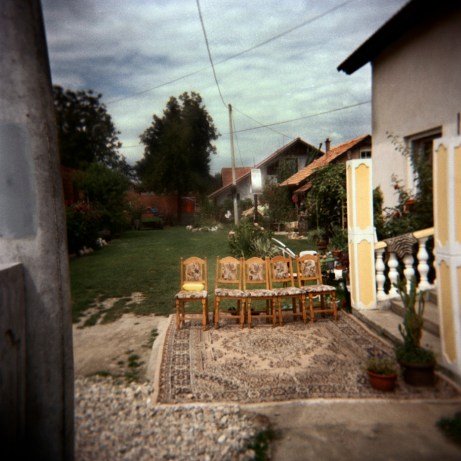 The entranceway to a Muslim family's house at the Rom camp-site in Podturen (Međimurje), Croatia 2009. © Matteo Bastianelli