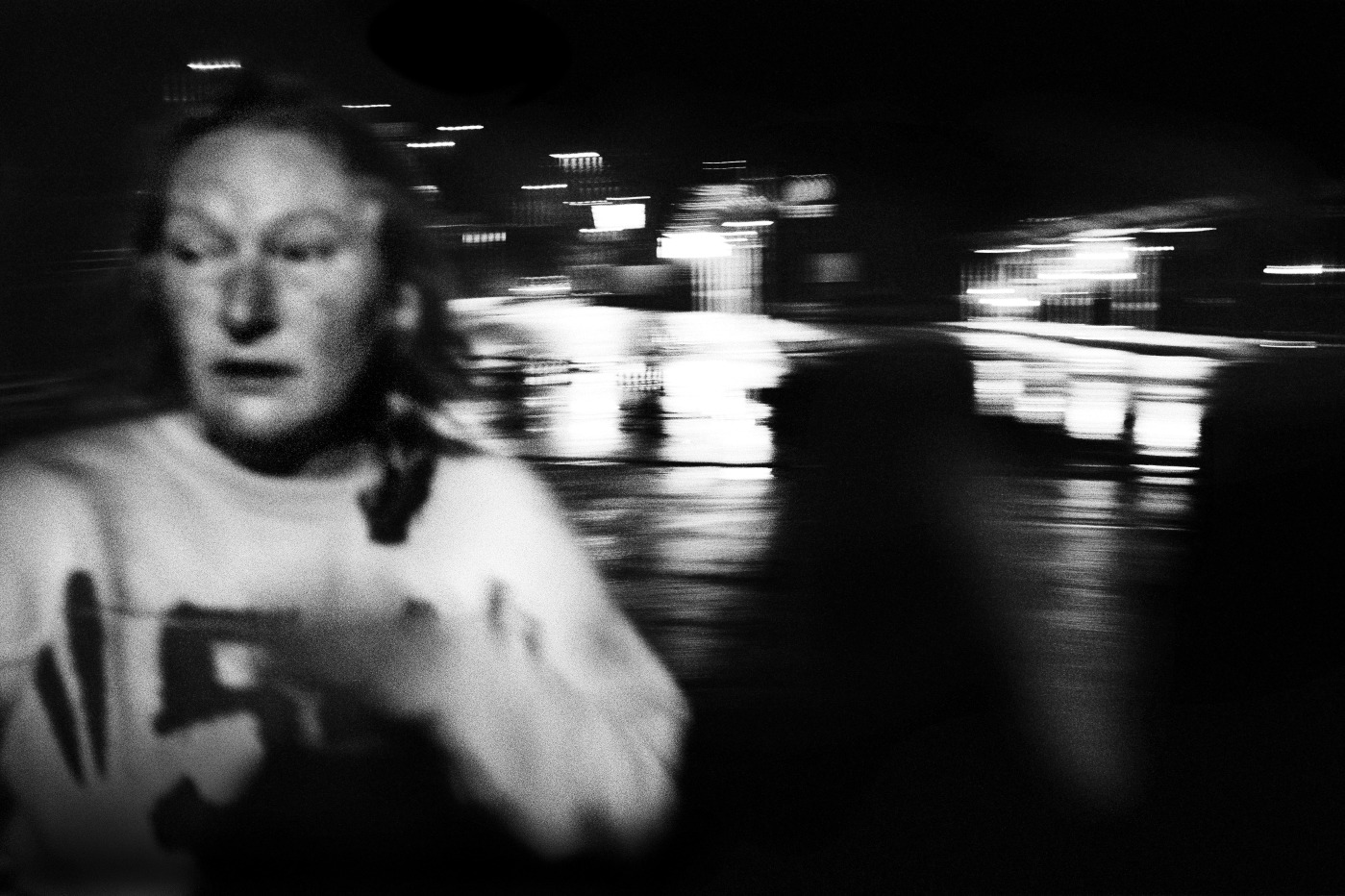 Patrizia is seen in front of the train station. In 2003 she became an homeless. Velletri, Italy 2009. © Matteo Bastianelli