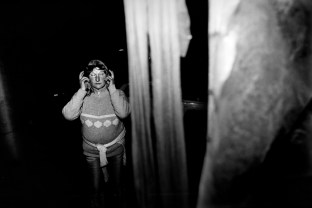Patrizia flips out during the night. Velletri, Italy 2009. © Matteo Bastianelli