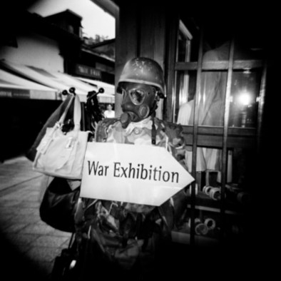 War souvenirs sold in the streets in the old town-centre. Sarajevo, Bosnia and Herzegovina, 2010. © Matteo Bastianelli