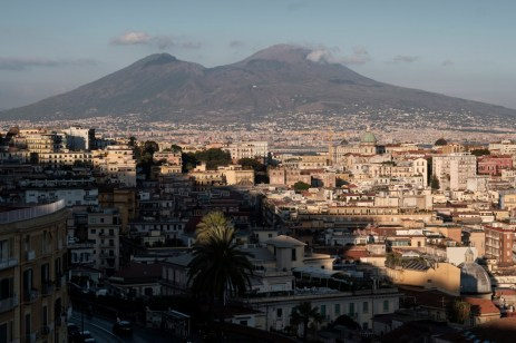 """A view of the city of Naples, synonymous with flair and tailoring craftsmanship for centuries. In 1351 in the shadow of Vesuvius, the """"Confraternita dei Sartori"""" was established, right around the time that Naples was a point of reference for fashion and lifestyle, as much as London and Paris. Naples, Italy 2017. © Matteo Bastianelli"""