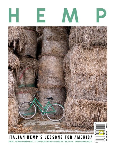 "January 2018 - My long-term project ""Green Gold"" published as cover story on Hemp magazine in the USA."
