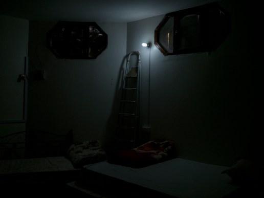 The safe room, used in case of emergency, inside the Doctors Without Borders' headquarter in Sana'a, Yemen 2018. © Matteo Bastianelli