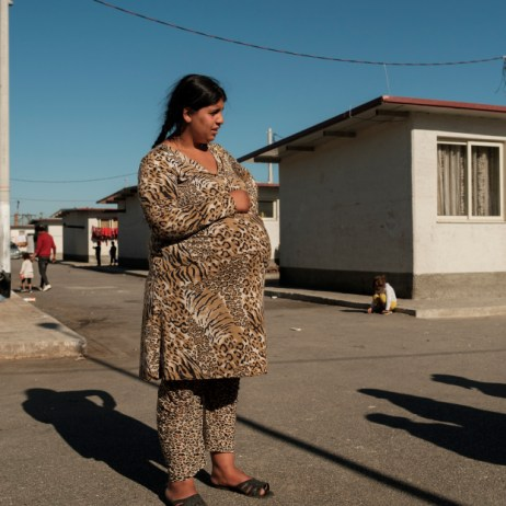 18-year-old pregnant Esmeralda Nuredini is seen inside a Roma community settlement in Tirana. Esmeralda got married at the age of 14. Every year, 12 million girls and young women throughout the world marry before the age of 18. According to UNICEF, if efforts are not accelerated, more than 150 million girls will marry before their eighteenth birthday by 2030. Tirana, Albania 2019. © Matteo Bastianelli