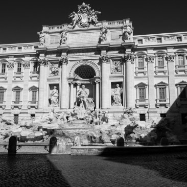 """A view of the empty Trevi Fountain. The streets in the city centre are deserted, after the Prime Ministerial Decree """"I stay home"""" disposed that people shouldstay home during Italy's lockdown aimed at stopping the spread of coronavirus, except forwork needs, situations of necessity and health reasons. Rome, Italy 2020. © Matteo Bastianelli"""