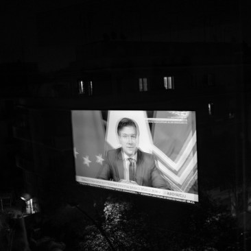 The umpteenth television appearance of the Italian Prime Minister Giuseppe Conte who addressing to the nation announces the introduction of new restrictive measures for the containment of the spread of the Coronavirus. Rome, Italy 2020. © Matteo Bastianelli