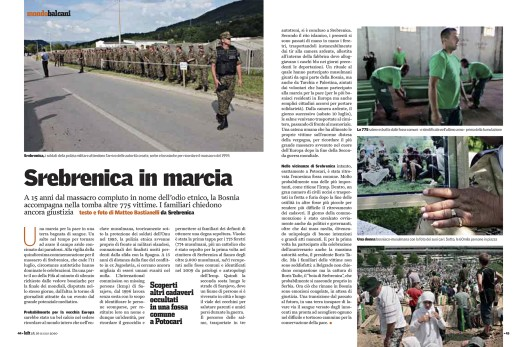 "July 2010 - ""Srebrenica on the march"", assignment for Left"