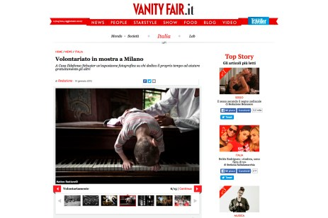 "January 2012 - ""A silent scream for life"" featured on Vanity fair"
