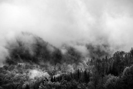 A view of the mountains around Fojnica. Fojnica, Bosnia and Herzegovina, 2014. © Matteo Bastianelli