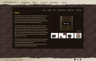 Progetto grafico della parte istituzionale del sito internet