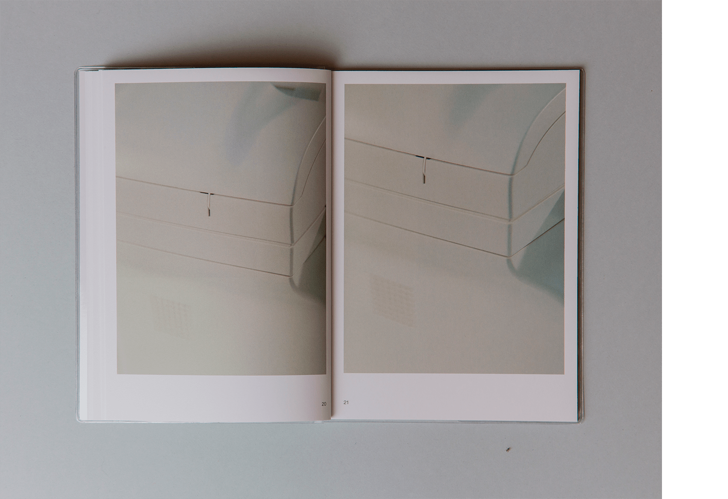 Book - Sculpture / Printer Office, 2017.  Format: 148x200mm, softcover, sewn binding + pvc softcover Text by Giovanna Manzotti  Edit by Yes I am Writing A Book