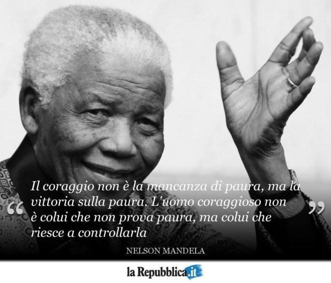 Nelson Mandela descrive il coraggio