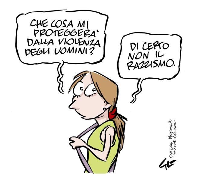 """Vignetta pubblicata sul blog di cecigian e condivisa dalla pagina Facebook """"Informazione Libera"""""""