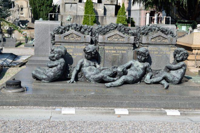 Tomba di famiglia nel Cimitero Monumentale di Milano