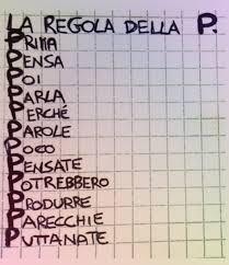 """Immagine della """"Regola della P"""""""