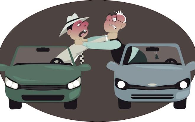 Urbanità non rispettata per strada da due automobilisti