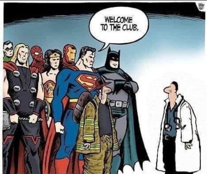 I medici nel club dei supereroi