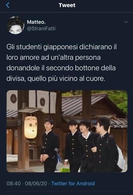 tweet sugli studenti giapponesi