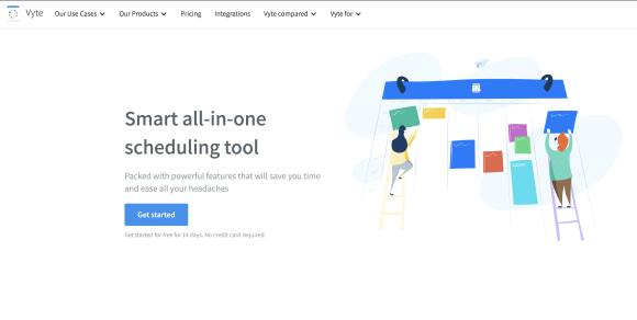 Vyte review: website screenshot