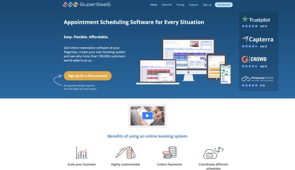 SuperSaas website screenshot