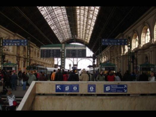 vlaková stanica v Budapešti
