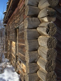 Traditional wall structure with jointing without nails