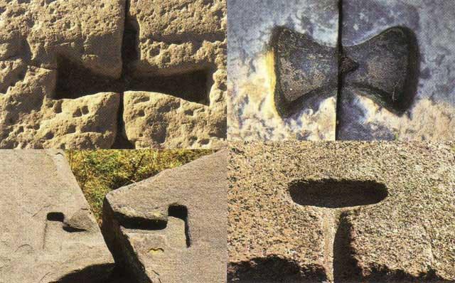 TL Dendera Egypt, TR Angkor Wat Cambodia, BL Tiahuanaco, BR Ollantaytambo