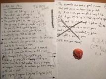 lyric sheet