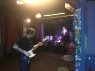pre-gig, Prince Albert, June (Peter Cat onstage)