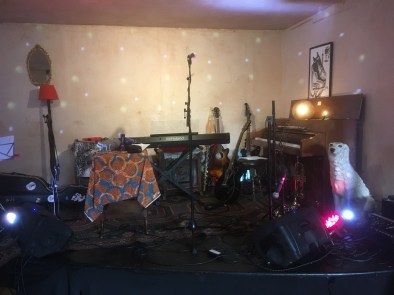 pre-gig, Rose Hill, July
