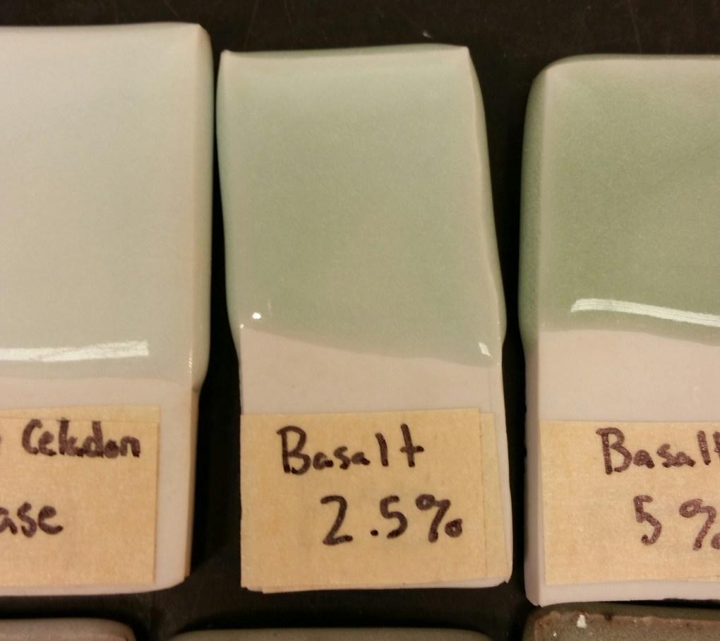 Basalt Celadon 0%, 2.5%, 5%