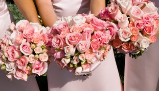 Pink Bridal and Bridesmaids' Bouquet - MattGeorge.me