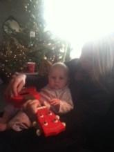 Teaching her the ukulele!