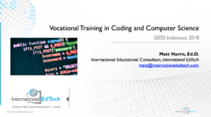 Vocational Training in Coding and Computer Science - GESS Indonesia 2018