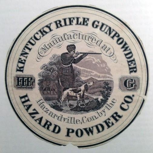 Hazard Powder Co. Kentucky Rifle Gunpowder Label