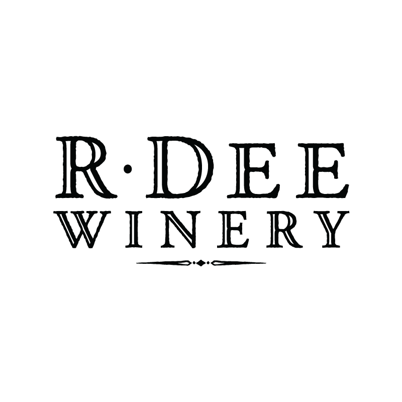 R Dee Winery Logo - Black on white background