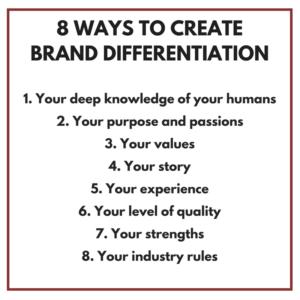 Brand Differentiation Matthew Fenton