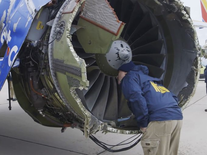 Southwest Airlines Flight 1380 Engine