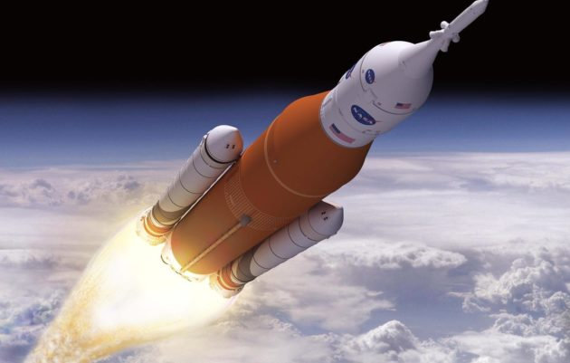SLS in Flight Illistration (NASA)